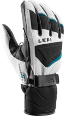 Rukavice Leki GRIFFIN S (white/black/petrol) 20/21