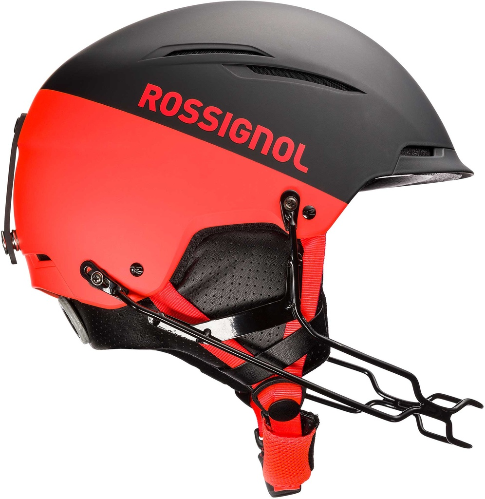 Rossignol HERO TEMPLAR SL IMPACTS with chinguard (black/hot red) 20/21